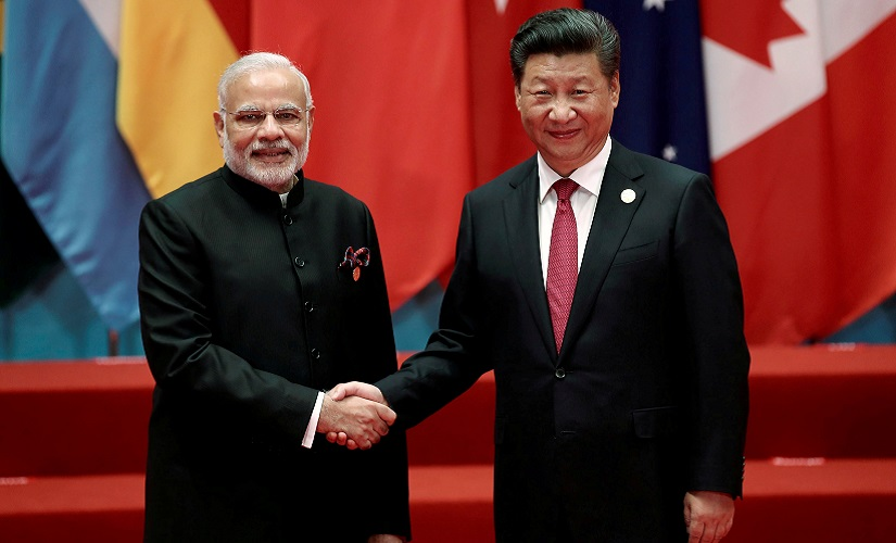 Chinese President Xi Jinping shakes hands with Indian Prime Minister Narendra Modi during the G20 Summit in Hangzhou, Zhejiang province, China September 4, 2016. REUTERS/Damir Sagolj/File Photo - RTSS6MX