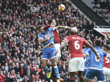 Zlatan Ibrahimovic said he went for the ball instead. AFP