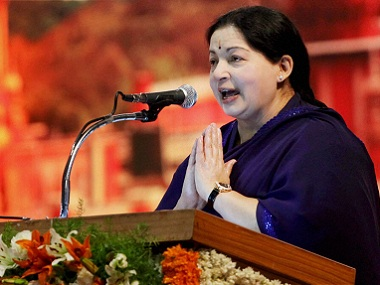 File photo of former Tamil Nadu Chief Minister J Jayalalithaa. PTI