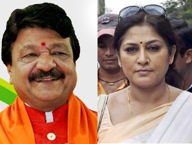 Kailash Vijayvargiya and Roopa Ganguly have been named in West Bengal molestation case