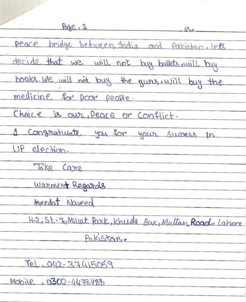 Letter to Modi from prolly dead Pak girl Page 2