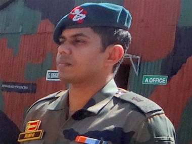 Major Rishi R. Image obtained from army sources