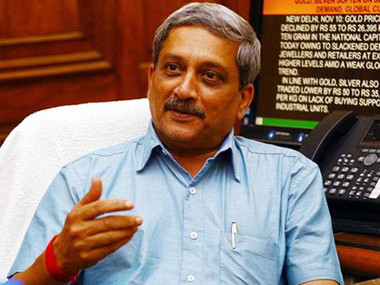 Goa chief minister Manohar Parrikar's show of strength in state assembly today. PTI