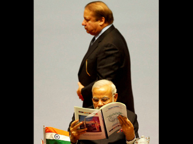Narendra Modi and Nawaz Sharif. PTI