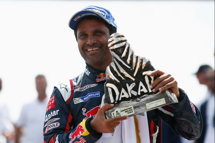 Winner and now Dakar champion, #301 Nasser Al Attiyah of Qatar. Getty