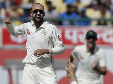 Nathan Lyon grabbed four wickets on Day 2 in Dharamsala to get Australia back into the game. AP