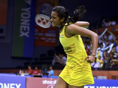 PV Sindhu beat Saina Nehwal in an intense game to reach semifinals of Indian Open. PTI