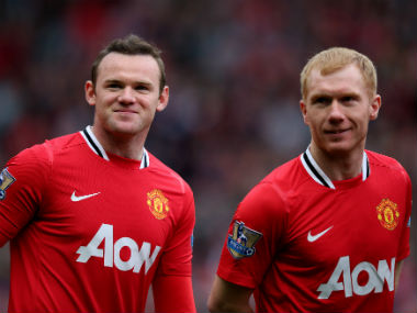 File photo of Wayne Rooney and Paul Scholes. Getty Images