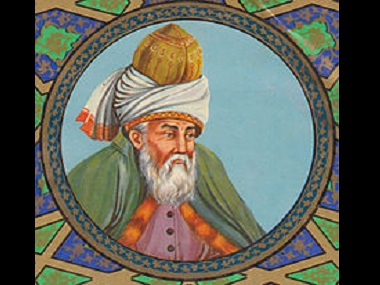 Artistic depiction of Rumi. Wikimedia Commons