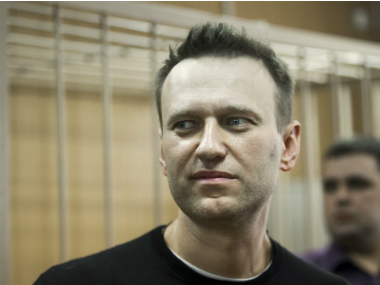 Russian Opposition leader Alexei Navalny appears in court in Moscow, Russia on 27 March