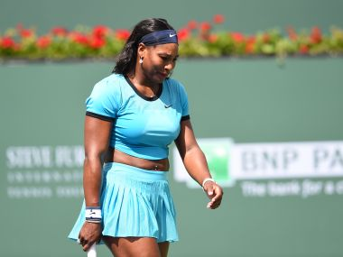 File photo of Serena Williams at the BNP Paribas Open in Indian Wells. AFP