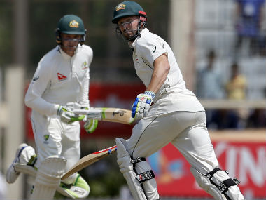Shaun Marsh and Peter Handscomb look settled as Australia hope for a draw in the third Test. AP