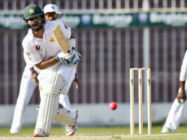 Ahmed Shehzad in action against West Indies in a warm-up game. AFP
