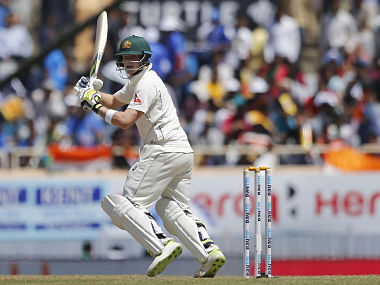 Steve Smith in action against India on day two of the 3rd Test. AP