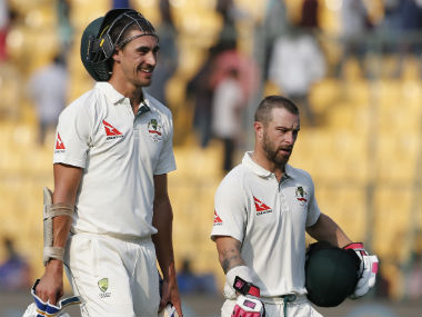 Mitchell Starc and Matthew Wade had shared an unbroken stand worth 17 at stumps. AP