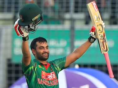Tamim Iqbal hit 15 fours and a six during his innings.  AFP