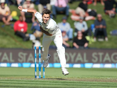 Trent Boult in action against South Africa in second Test. Getty Images