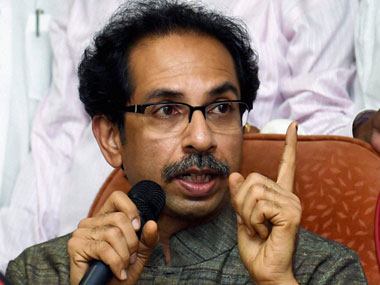 File image of Shive Sena chief Uddhav Thackeray. PTI
