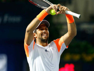 Fernando Verdasco celebrated his win against Gael Monfils. Twitter: @DDFtennis