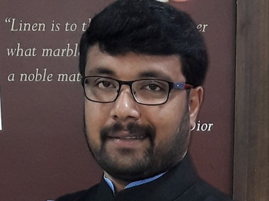 ABVP Vinay Bindre. Firstpost/Debobrat Ghose
