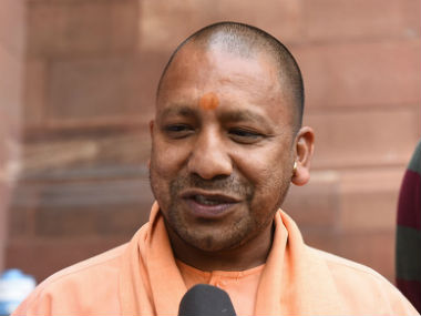 Yogi Adityanath elected leader of the BJP Legislature Party in Lucknow on Saturday. PTI