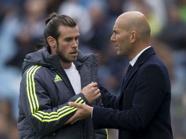 File photo of Zinedine Zidane and Gareth Bale. Getty Images