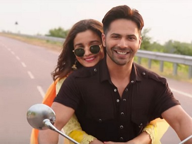 Alia Bhatt and Varun Dhawan in a still from Badrinath Ki Dulhania. YouTube screengrab