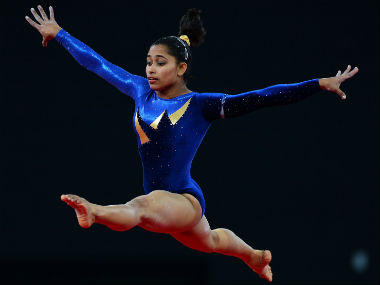 File photo of Dipa Karmakar. AFP