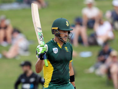 Faf du Plessis plays a crucial knock to win series for South Africa. AFP