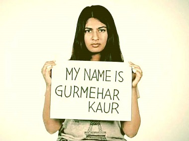 Gurmehar Kaur. Photo courtesy: Facebook