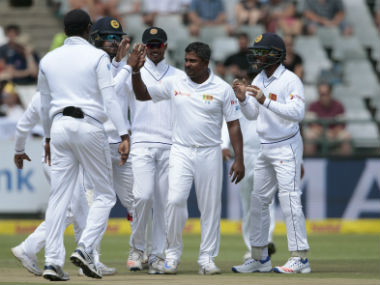 Sri Lanka, led by Rangana Herath (centre), will host Bangladesh for a two-Test series starting next week. AFP