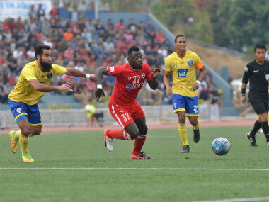 I-League action between Aizawl FC beat Mumbai FC. Image courtesy: Twitter/@ILeagueOfficial