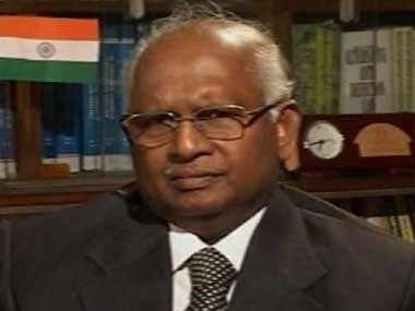 File photo of former CJI KG Balakrishnan. News18