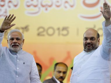 File image of Prime Minister Narendra Modi and BJP chief Amit Shah. AFP