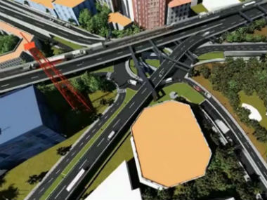 Artists impression of the steel flyover in Bengaluru. News18