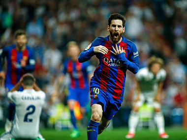 Lionel Messi inspired Barcelona to a last-minute win over Real Madrid in El Classico. AFP