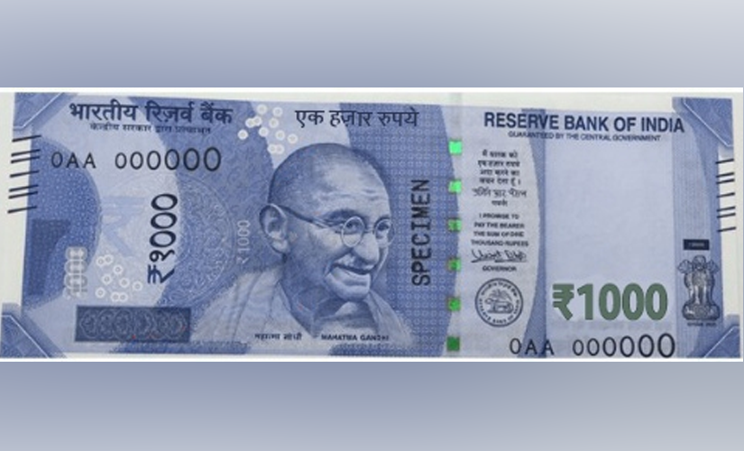 A Rs 1000 note as shared by news24online