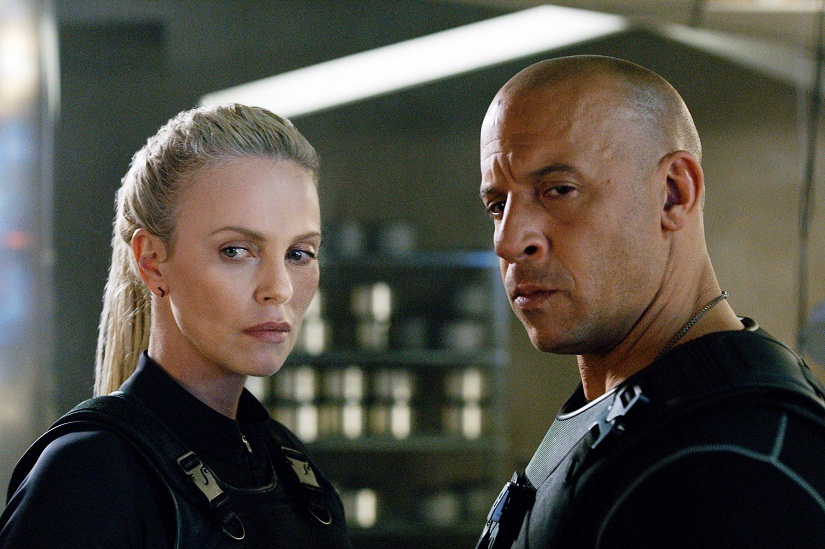 Charlize Theron and Vin Diesel in Fast and the Furious 8. Image via Facebook.