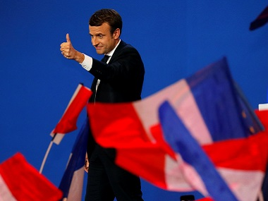 File image of French president Emmanuel Macron. Reuters
