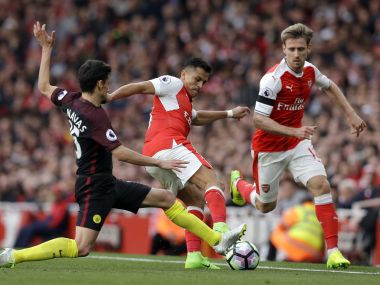 Arsenal play Manchester City in second semifinal of the FA Cup. AP
