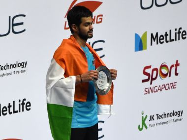B Sai Praneeth won his first ever Superseries title in Singapore. AFP