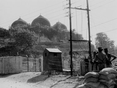 File photo of Babri Masjid in Ayodhya, Nov, 1990. The Supreme Court on Wednesday revived the 25-year-old trial in the Babri Masjid demolition case by allowing fresh charges of criminal conspiracy against Bharatiya Janata Party (BJP) leaders LK Advani, Murali Manohar Joshi, Uma Bharti and 13 others. PTI