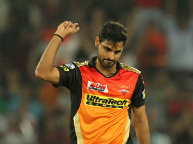 Bhuvneshwar Kumar recorded his best figures in the IPL. Sportzpics