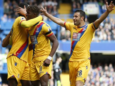 Wilfred Zaha and Christian Benteke scored as Crystal Palace stunned Chelsea at Stamford Bridge. AFP