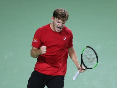 David Goffin eased past Italian veteran Paolo Lorenzi to give Belgium a 3-1 lead. Image courtesy: Twitter/@DavisCup