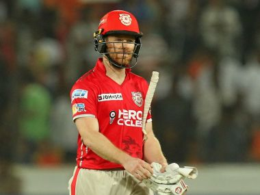 Eoin Morgan is among many overseas stars that have disappointed for KXIP this season. IPL/SportzPics