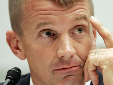 File image of Blackwater founder Erik Prince. Reuters