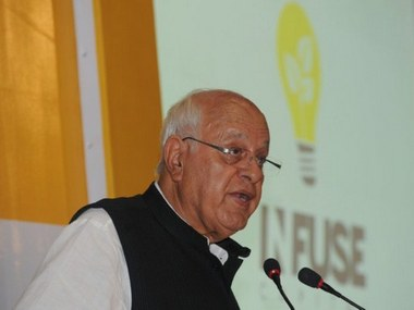 File picture of Farooq Abdullah. AFP