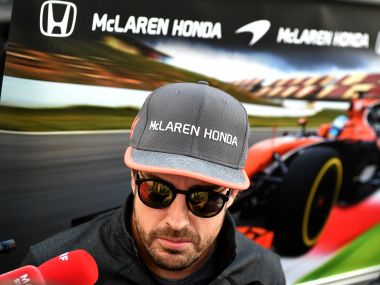 McLaren's Fernando Alonso answers journalists' questions ahead of the Russian Grand Prix. AFP
