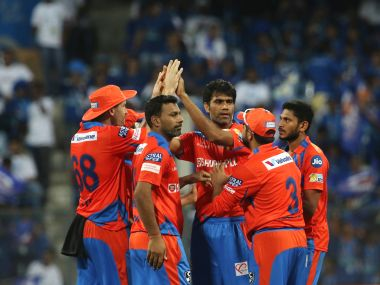 File photo of Gujarat Lions players. Sportzpics